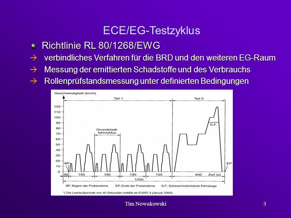 ECE/EG-Testzyklus Richtlinie RL 80/1268/EWG