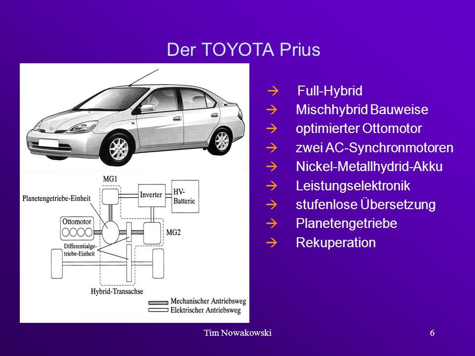 Der TOYOTA Prius  Full-Hybrid  Mischhybrid Bauweise
