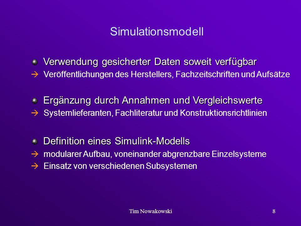 Simulationsmodell Verwendung gesicherter Daten soweit verfügbar