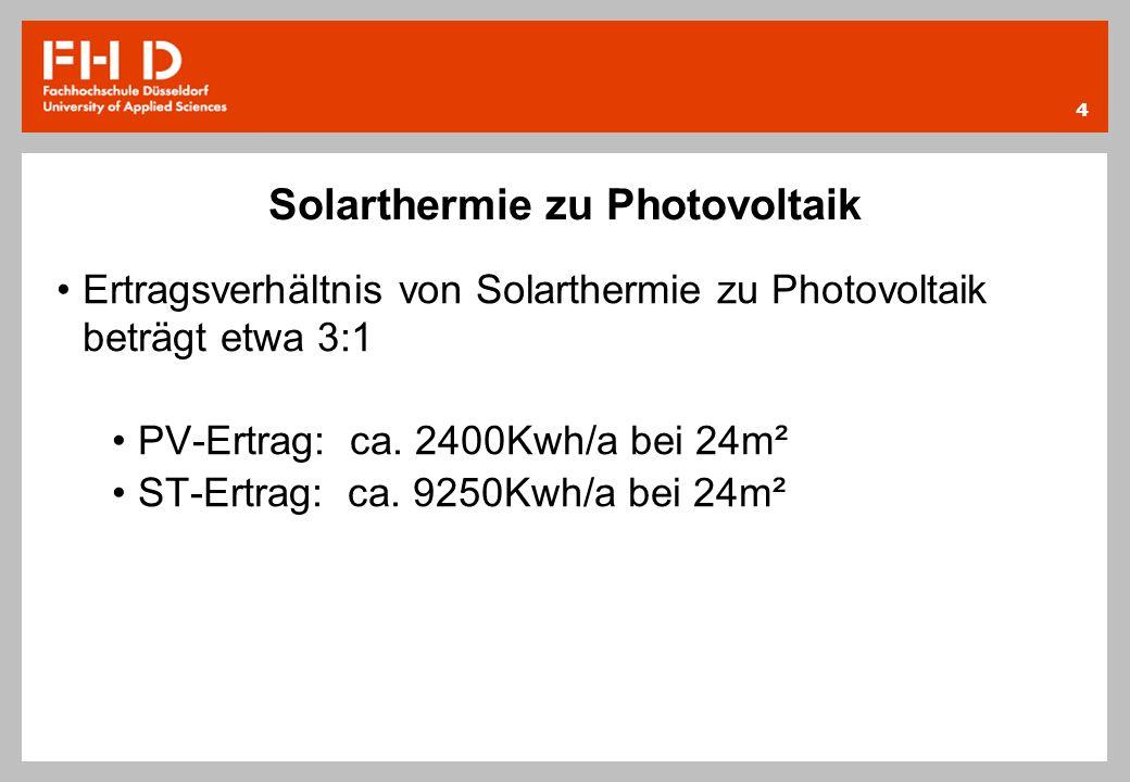 Solarthermie zu Photovoltaik