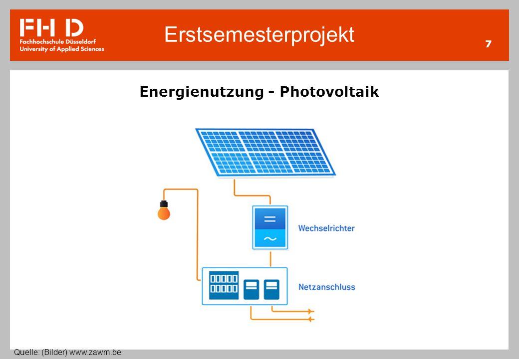 Energienutzung - Photovoltaik