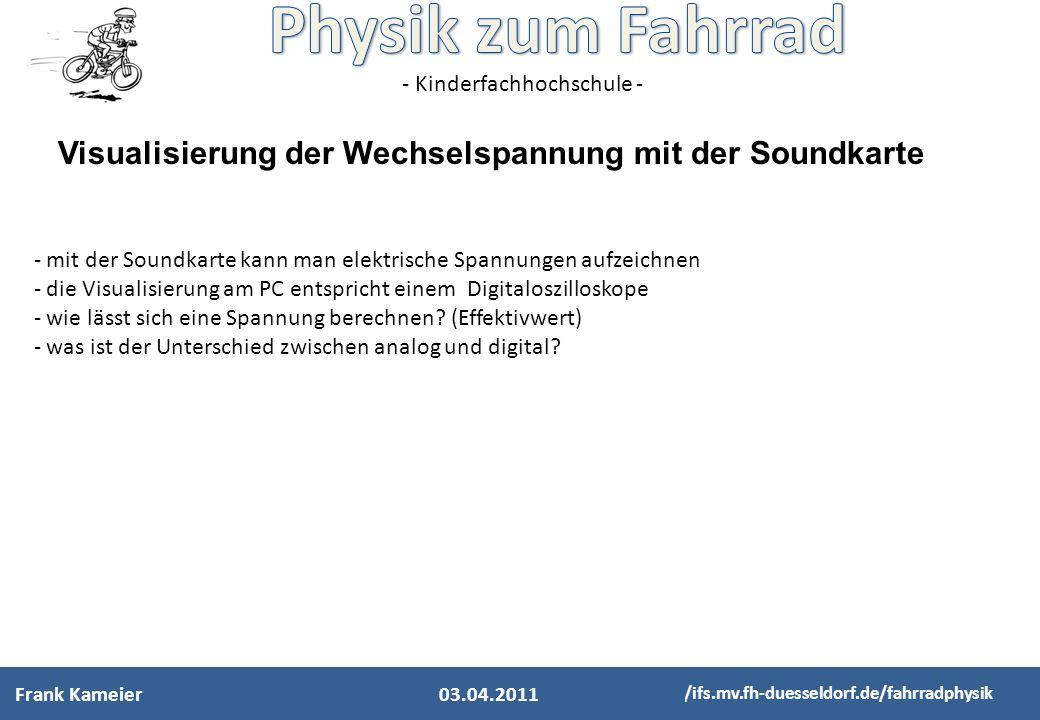 Visualisierung der Wechselspannung mit der Soundkarte