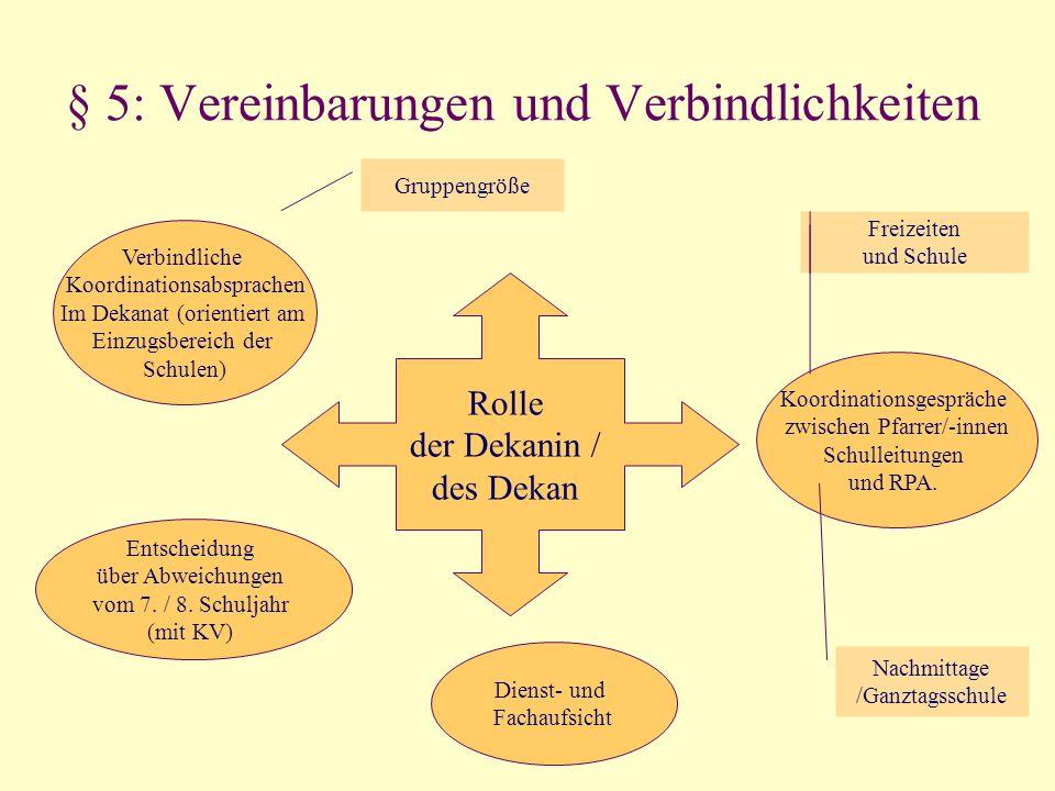 § 5: Vereinbarungen und Verbindlichkeiten