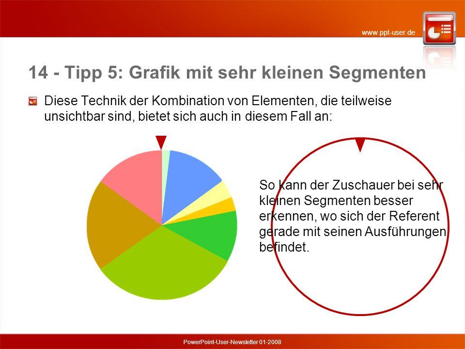 14 - Tipp 5: Grafik mit sehr kleinen Segmenten