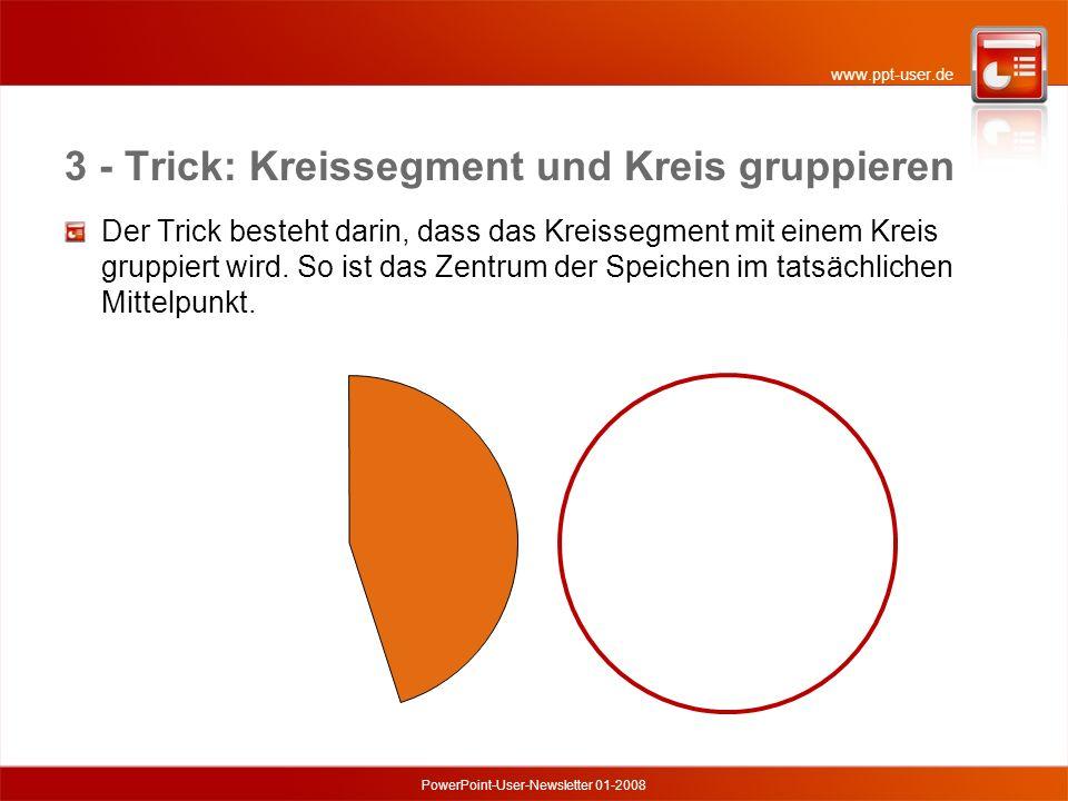3 - Trick: Kreissegment und Kreis gruppieren