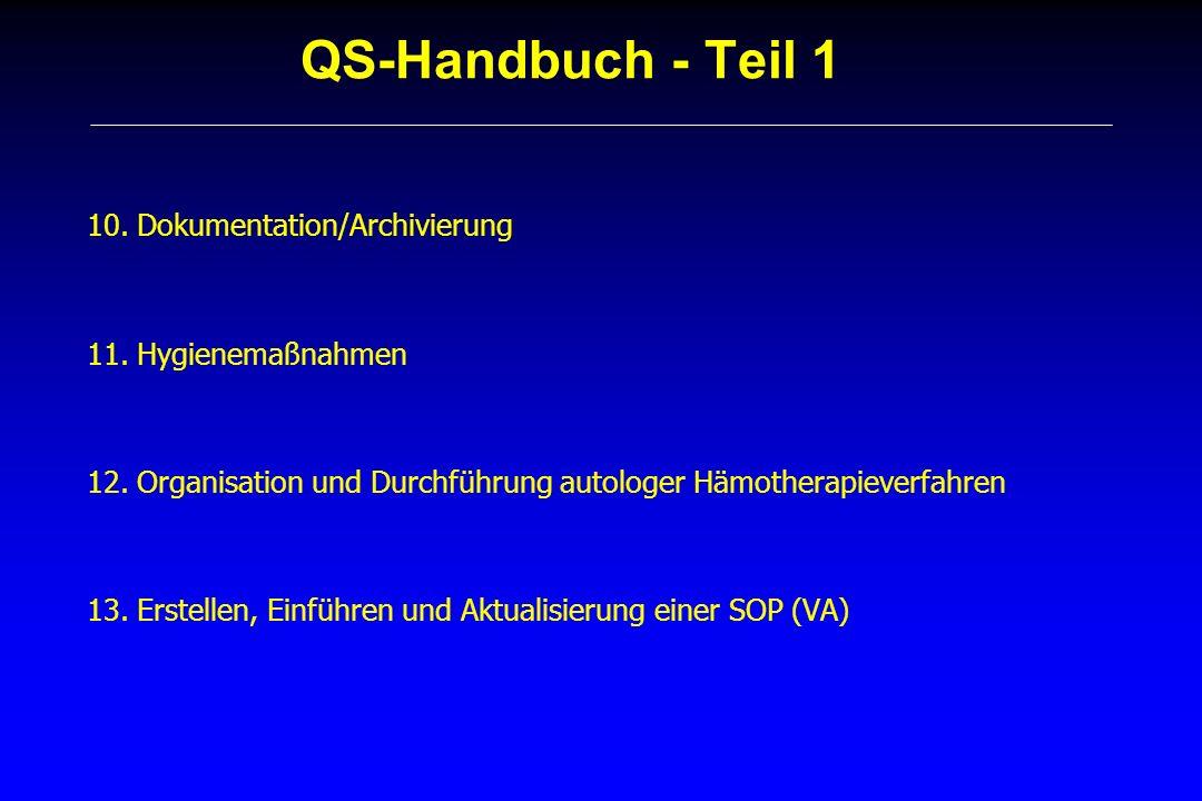 QS-Handbuch - Teil 1 10. Dokumentation/Archivierung