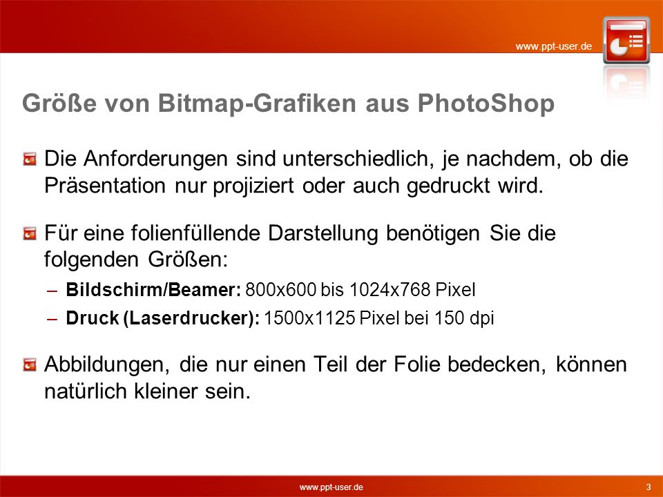 Größe von Bitmap-Grafiken aus PhotoShop