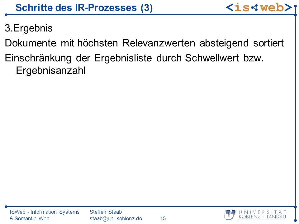 Schritte des IR-Prozesses (3)