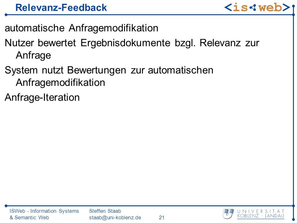 automatische Anfragemodifikation