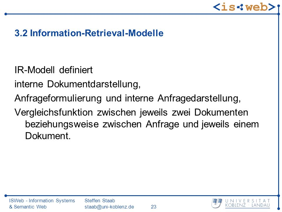 3.2 Information-Retrieval-Modelle
