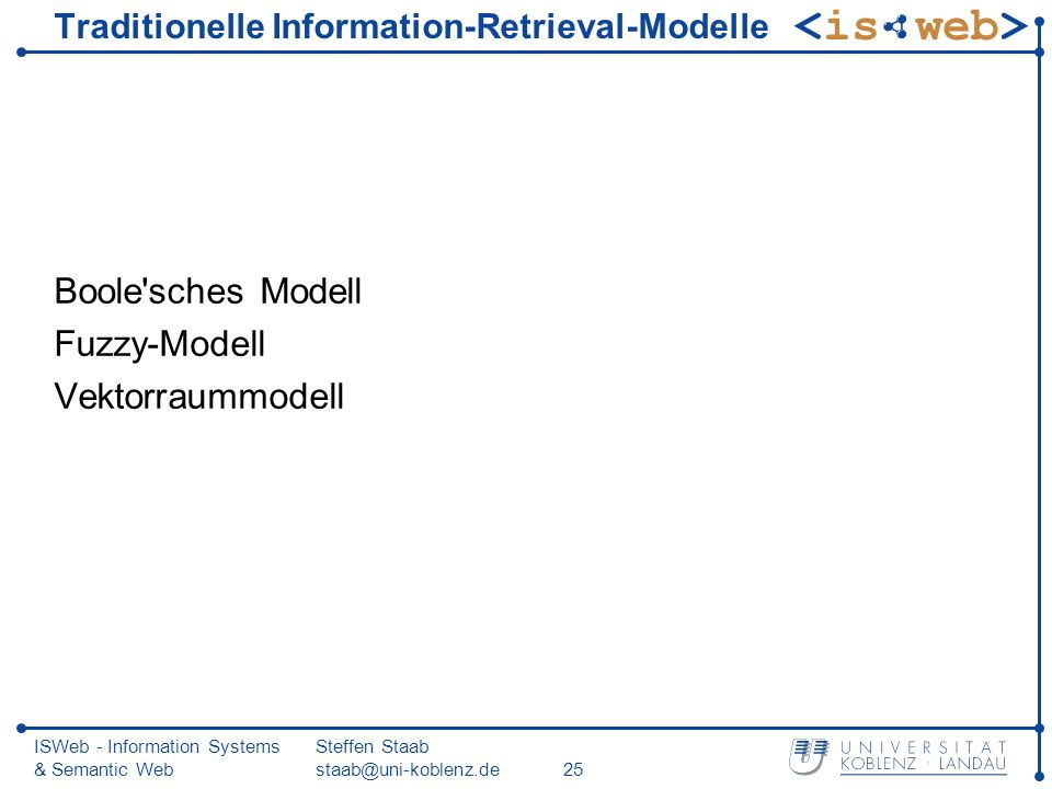 Traditionelle Information-Retrieval-Modelle