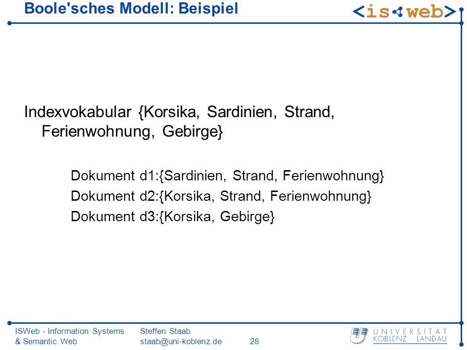 Boole sches Modell: Beispiel