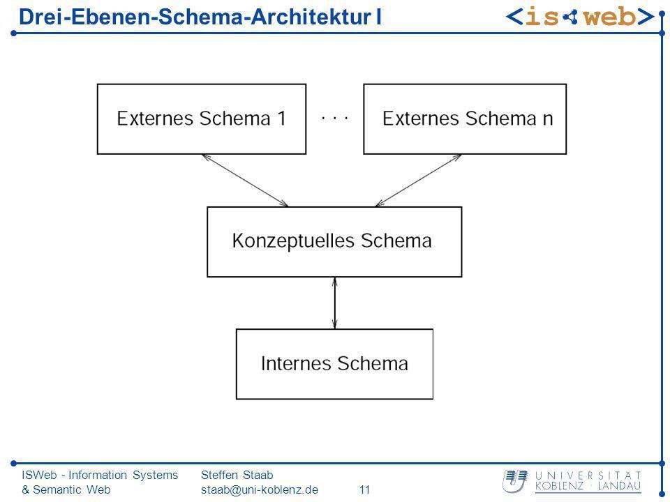 Drei-Ebenen-Schema-Architektur I