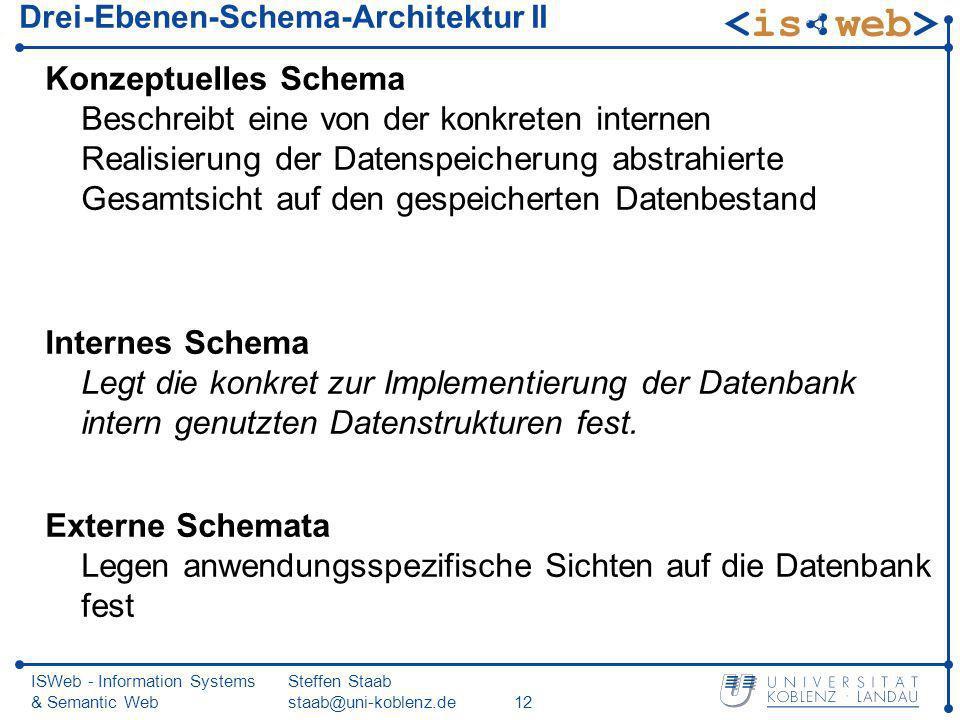 Drei-Ebenen-Schema-Architektur II