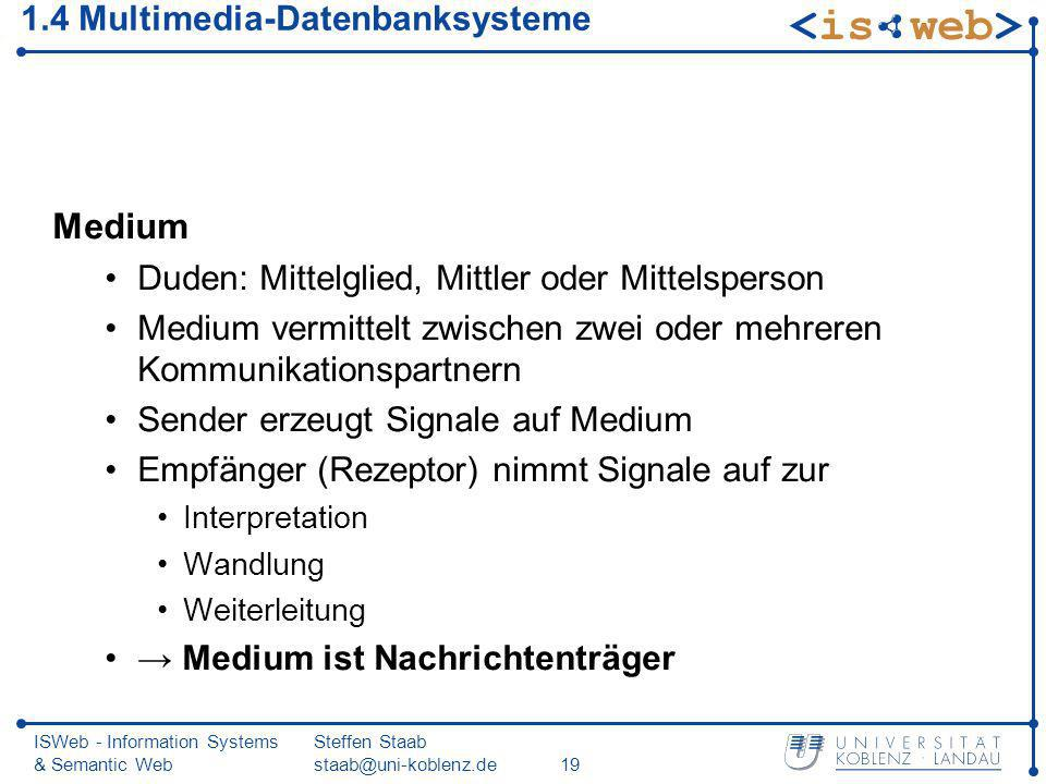1.4 Multimedia-Datenbanksysteme