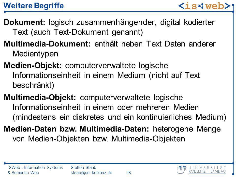 Multimedia-Dokument: enthält neben Text Daten anderer Medientypen