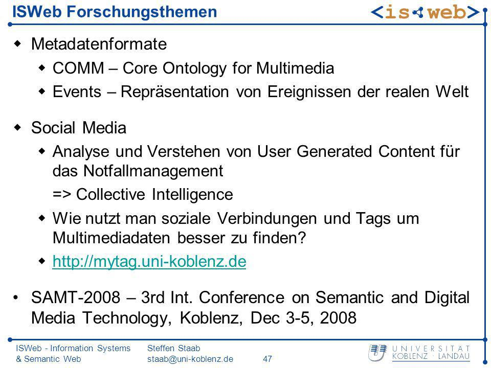 ISWeb Forschungsthemen