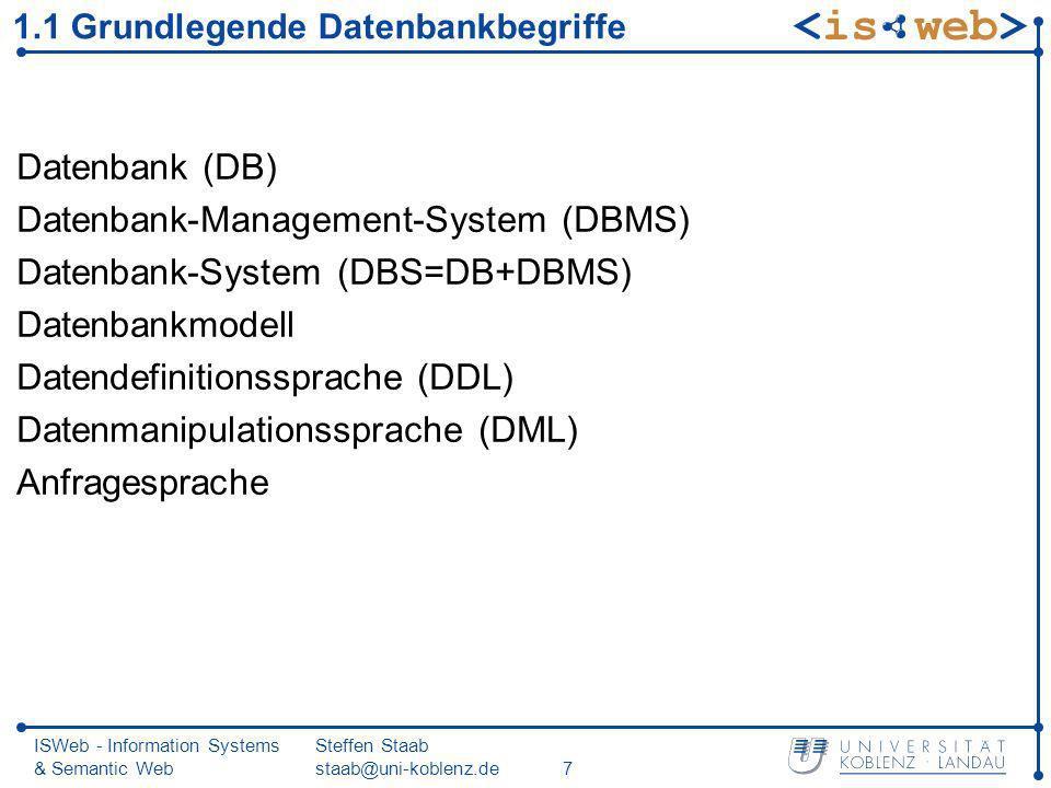1.1 Grundlegende Datenbankbegriffe
