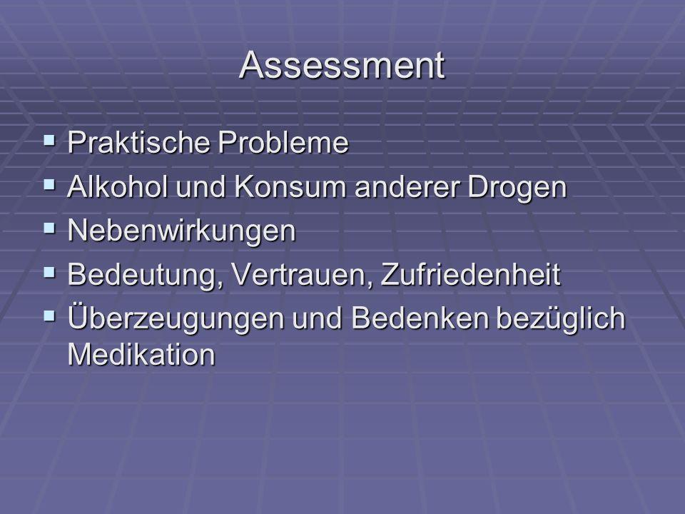 Assessment Praktische Probleme Alkohol und Konsum anderer Drogen