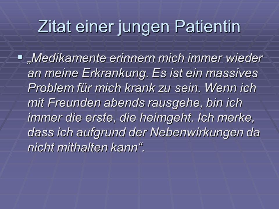 Zitat einer jungen Patientin