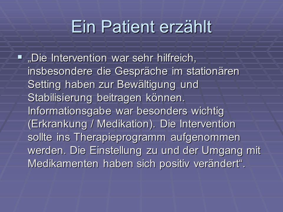 Ein Patient erzählt