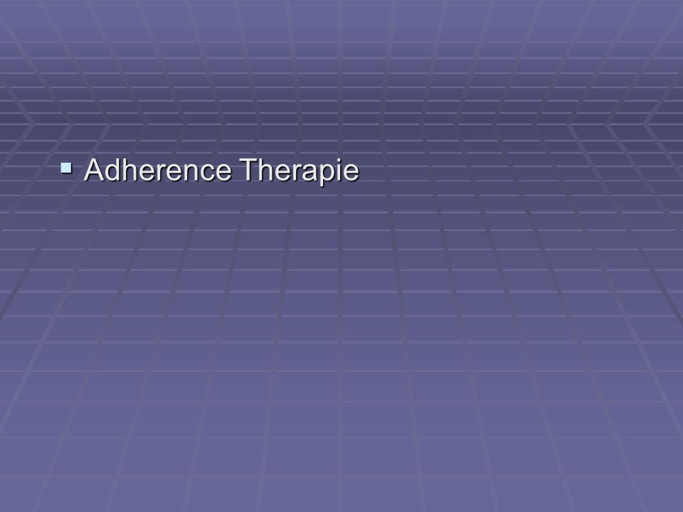 Adherence Therapie
