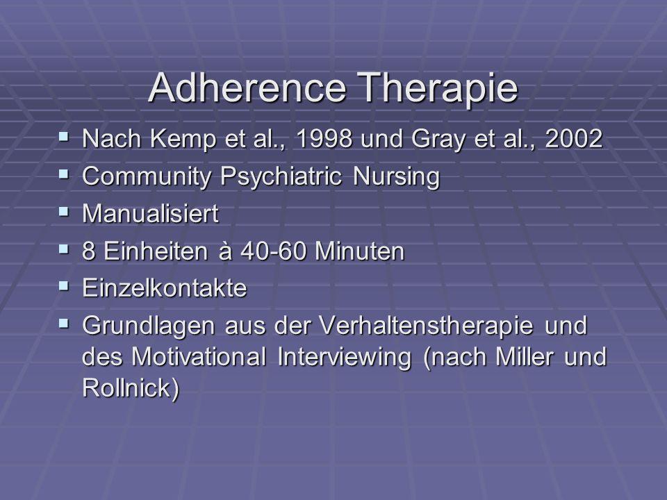 Adherence Therapie Nach Kemp et al., 1998 und Gray et al., 2002