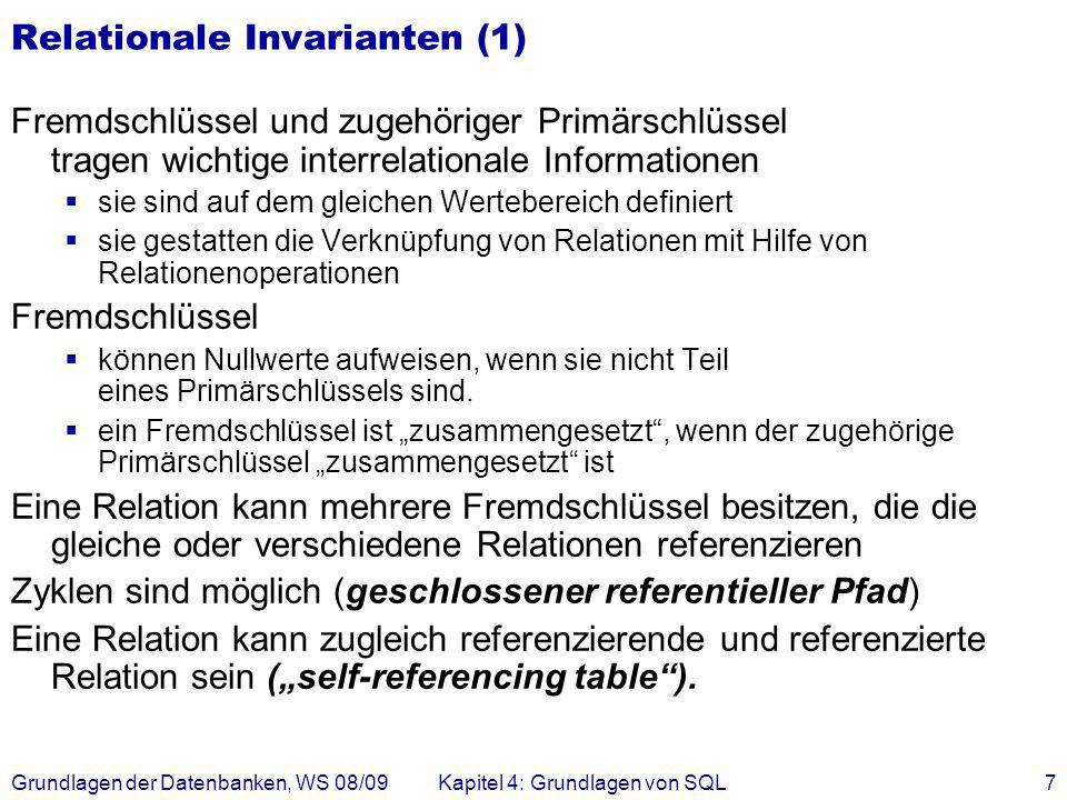 Relationale Invarianten (1)