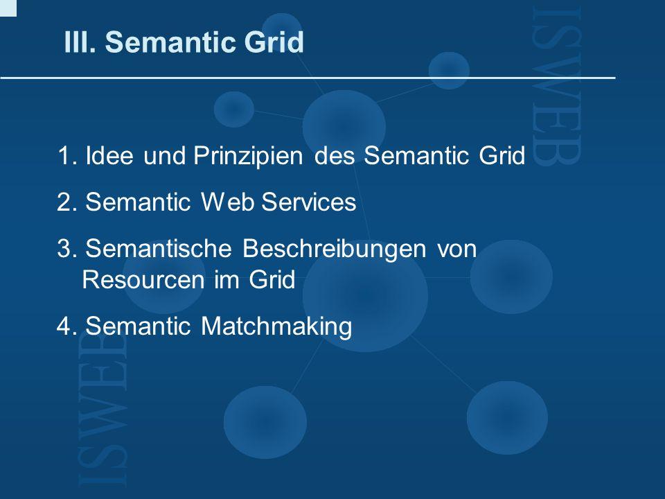 III. Semantic Grid 1. Idee und Prinzipien des Semantic Grid