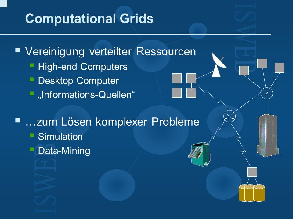 Computational Grids Vereinigung verteilter Ressourcen
