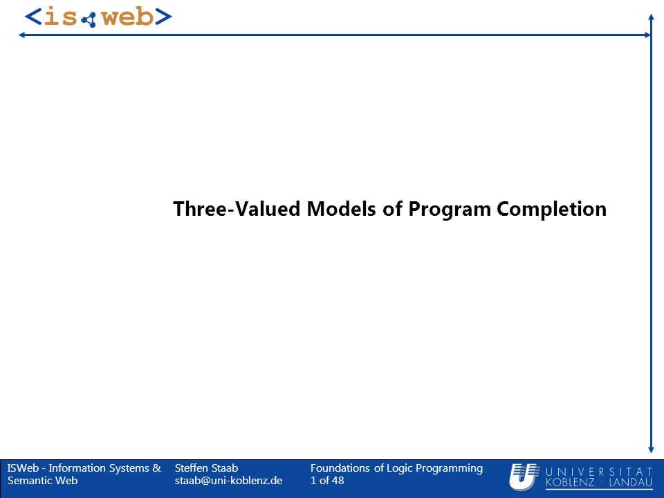 Three-Valued Models of Program Completion