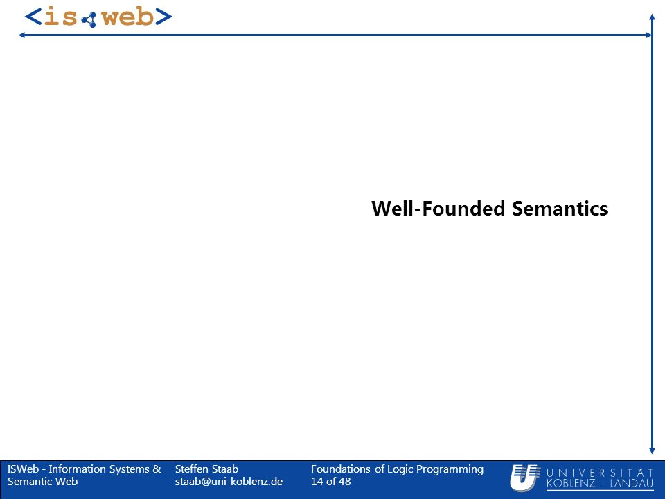 Well-Founded Semantics