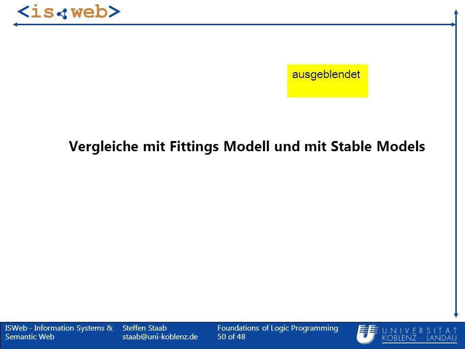 Vergleiche mit Fittings Modell und mit Stable Models