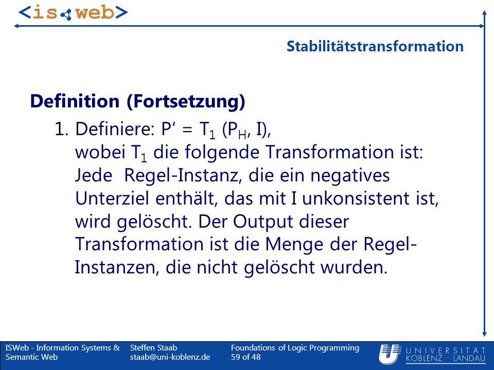Stabilitätstransformation