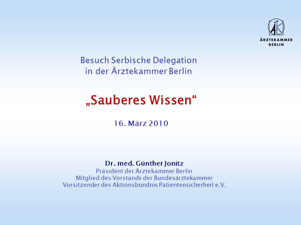 """""""Sauberes Wissen Besuch Serbische Delegation"""