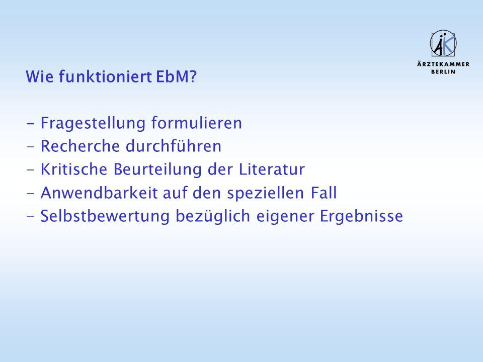 Wie funktioniert EbM.