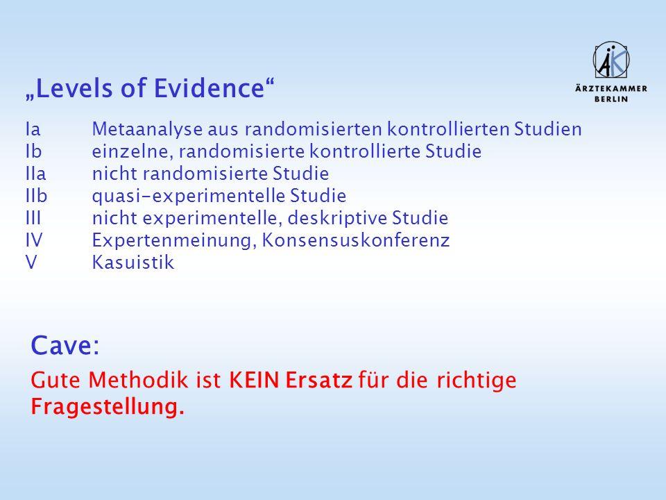 Cave: Gute Methodik ist KEIN Ersatz für die richtige Fragestellung.