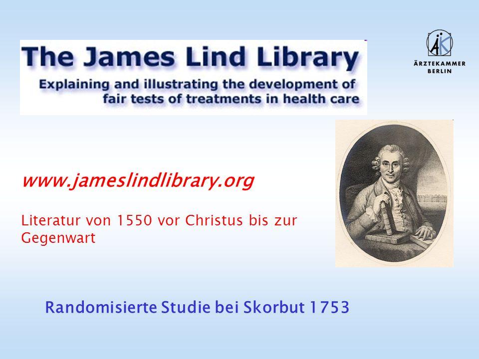 www.jameslindlibrary.org Literatur von 1550 vor Christus bis zur Gegenwart