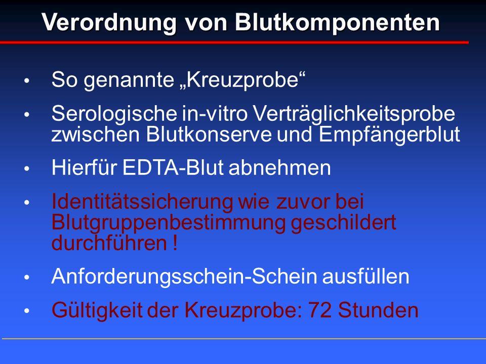 Verordnung von Blutkomponenten
