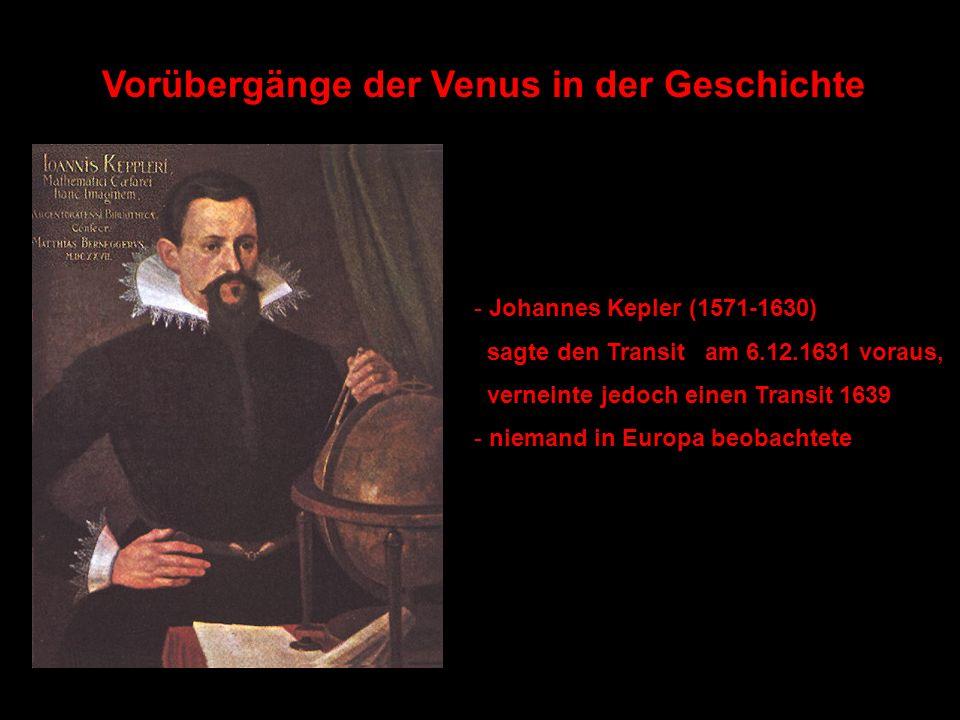 Vorübergänge der Venus in der Geschichte