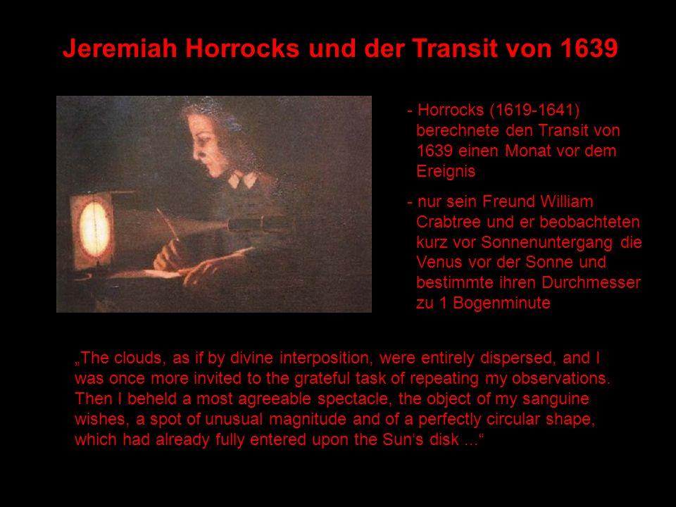 Jeremiah Horrocks und der Transit von 1639