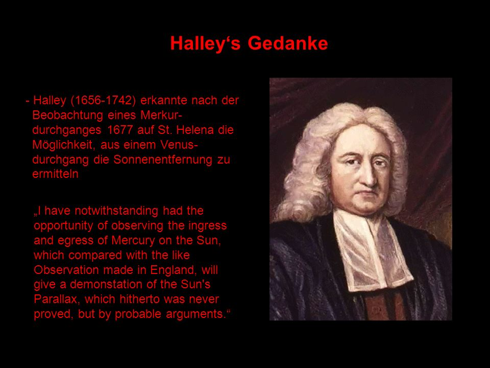Halley's Gedanke