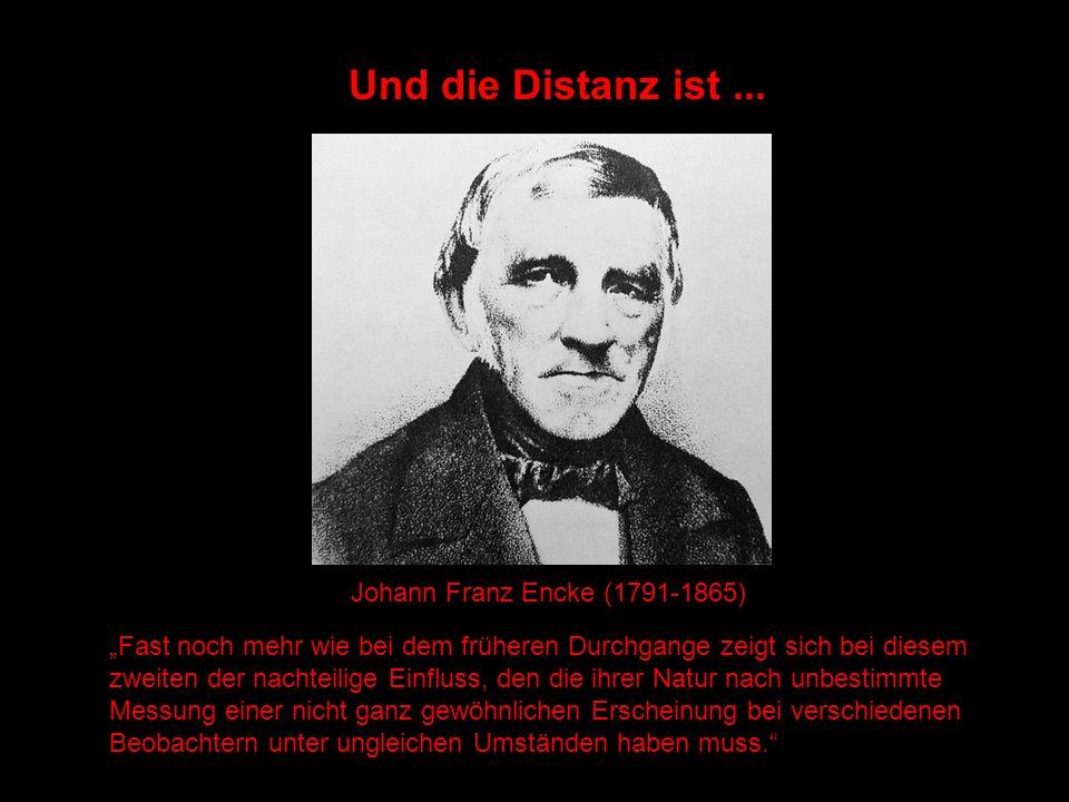 Und die Distanz ist ... Johann Franz Encke (1791-1865)