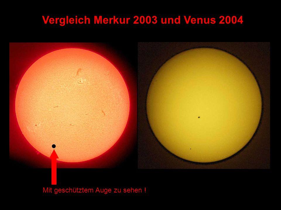 Vergleich Merkur 2003 und Venus 2004