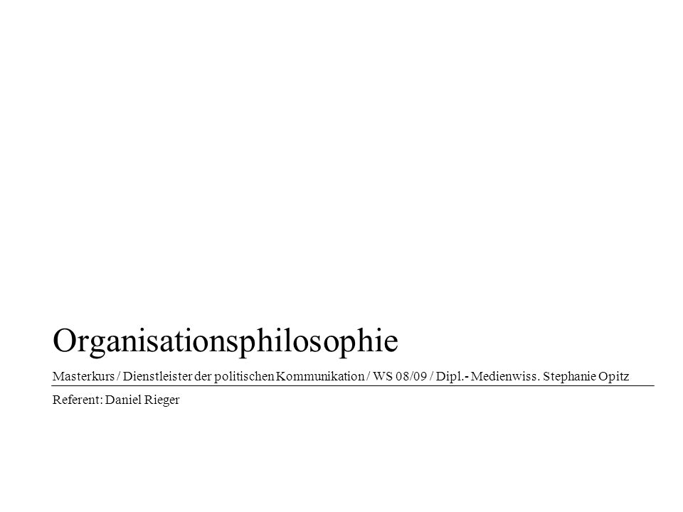 Organisationsphilosophie
