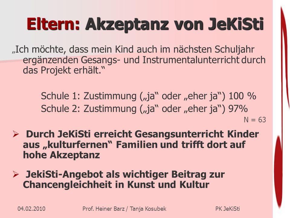 Eltern: Akzeptanz von JeKiSti