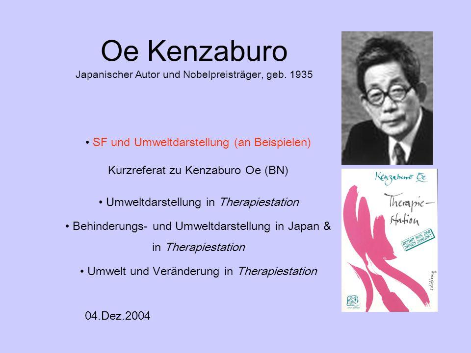 Oe Kenzaburo Japanischer Autor und Nobelpreisträger, geb. 1935
