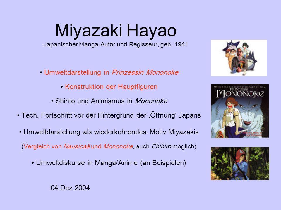 Miyazaki Hayao Japanischer Manga-Autor und Regisseur, geb. 1941