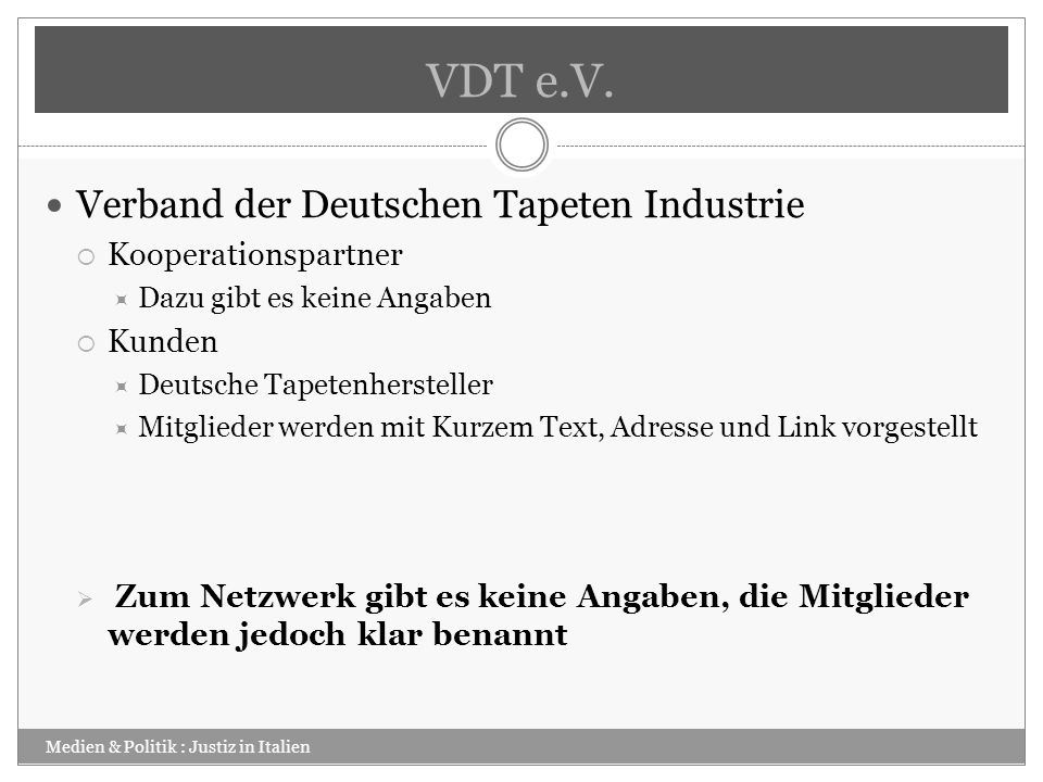 VDT e.V. Verband der Deutschen Tapeten Industrie Kooperationspartner