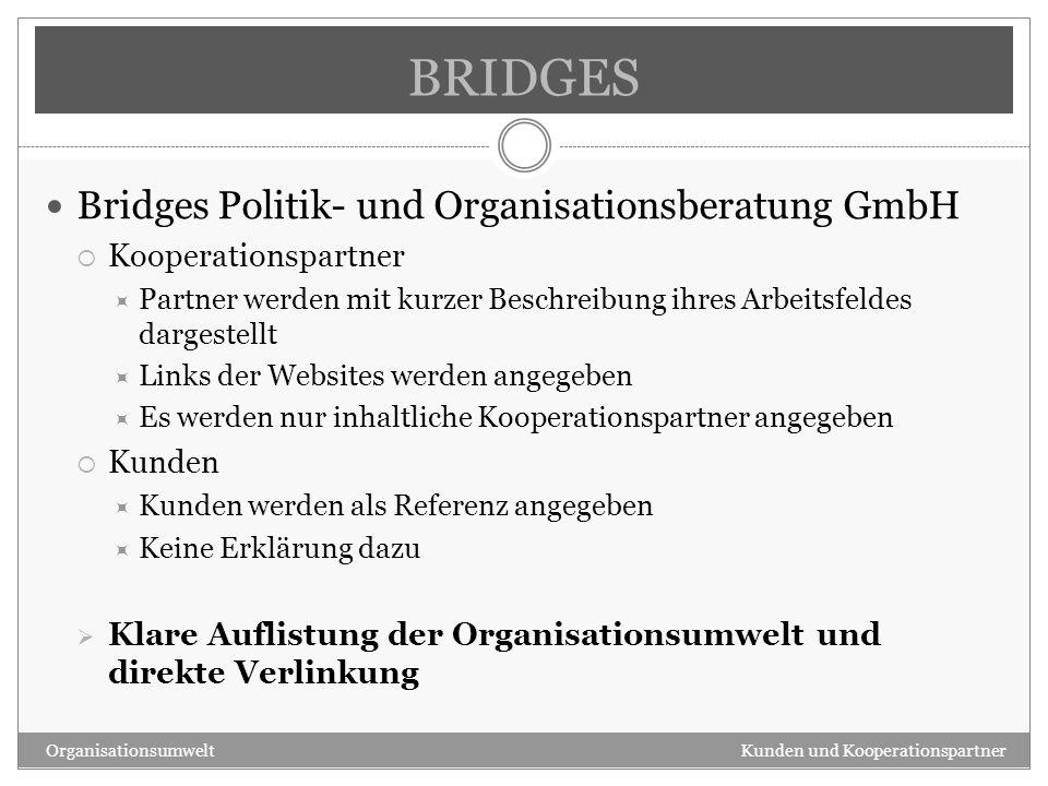 BRIDGES Bridges Politik- und Organisationsberatung GmbH